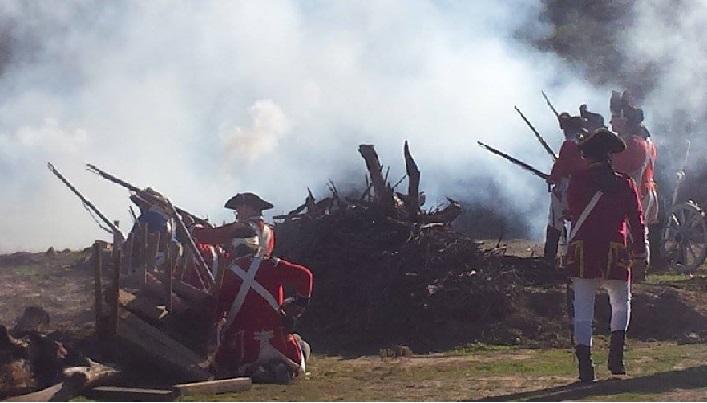 Old Bethpage Village, Battle of Fort Slongo, 2 & 3 October